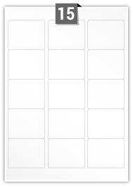 15 Rectangle Labels per A4 sheet