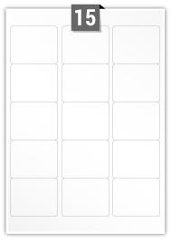 15 Rectangle Labels per A4 sheet