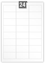 24 étiquettes rectangulaires par feuille -  64 mm x 33.9 mm