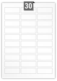 30 étiquettes rectangulaires par feuille -  60 mm x 22 mm