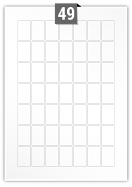 49 Rectangle Labels per A4 sheet