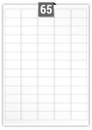 65 Rectangle Labels per A4 sheet - 38.1 mm x 21.2 mm