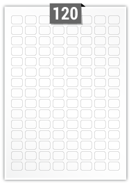 120 étiquettes  rectangulaires par feuille -  22 mm x 16 mm