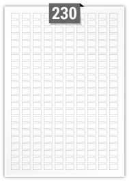 230 étiquettes  rectangulaires par feuille -  14 mm x 9 mm
