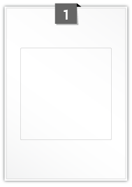 1 étiquette  carré par feuille -  160 mm x 160 mm