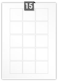 15 Square Labels per A4 sheet