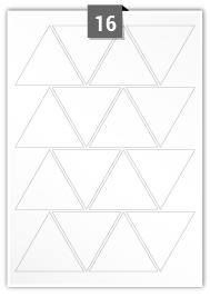16 Triangle Labels per A4 sheet