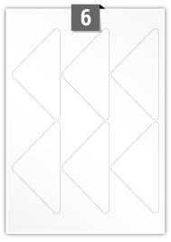 6 Triangle Labels per A4 sheet