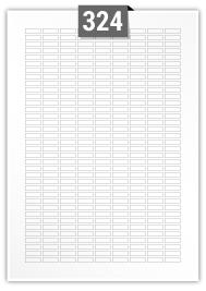 324 étiquettes  rectangulaires par feuille -  17 mm x 6 mm