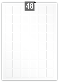 48 Rectangle Labels per A4 sheet