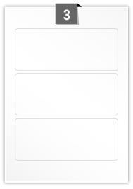3 étiquettes rectangulaires par feuille -  180 mm x 73 mm