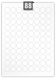 88 Circular Label per A4 sheet