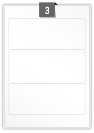 3 étiquettes rectangulaires par feuille -  190 mm x 75 mm