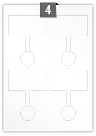 4 Anti Tamper Labels per A4 sheet