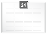24 Rectangle Labels per A5 sheet