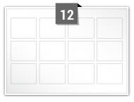 12 étiquettes rectangulaires par feuille -  45 mm x 35 mm