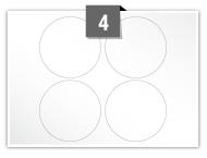 4 Circular Labels per A5 sheet