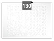 130 étiquettes cercle par feuille -  10 mm Diamètre