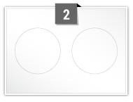 2 étiquettes cercle par feuille -  80 mm Diamètre