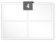4 étiquettes rectangulaires par feuille -  97 mm x 69 mm