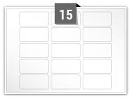 15 étiquettes rectangulaires par feuille -  51 mm x 25 mm