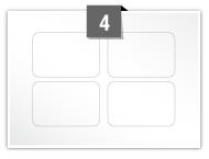 4 étiquettes rectangulaires par feuille -  75 mm x 50 mm
