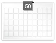 50 étiquettes rectangulaires par feuille -  17.9 mm x 22mm