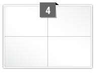 4 étiquettes rectangulaires par feuille -  104 mm x 73.25 mm