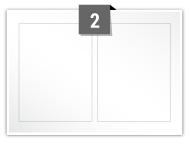 2 étiquettes rectangulaires par feuille -  90 mm x 120 mm