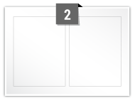 2 Rectangle Labels per A5 sheet