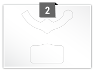 2 Irregular Labels per A5 sheet