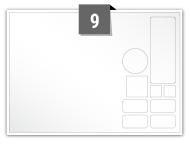 9 Irregular Labels per A5 sheet