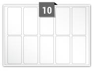 10 étiquettes rectangulaires par feuille -  35 mm x 70 mm