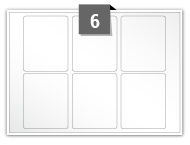 6 étiquettes rectangulaires par feuille -  55 mm x 68 mm