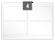 4 étiquettes rectangulaires par feuille -  99.1 mm x 57.3 mm