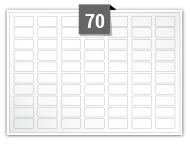 70 étiquettes rectangulaires par feuille -  24 mm x 12 mm