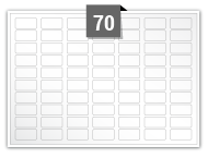 70 Rectangle Labels per A5 sheet