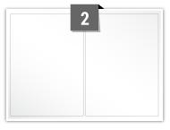 2 étiquettes rectangulaires par feuille -  99.1 mm x 139 mm