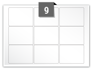 9 Rectangle Labels per A5 sheet