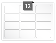 12 Rectangle Labels per A5 sheet