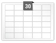 30 étiquettes rectangulaires par feuille -  38.1 mm x 21.2 mm