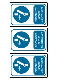 3 Labels per A4 sheet