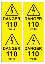 4 Labels per A4 sheet