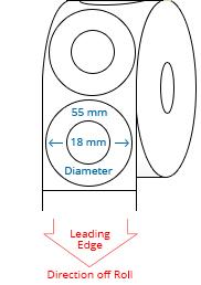 55 (18) mm Étiquettes de rouleau de cercle