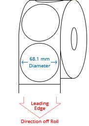 68.1 mm Étiquettes de rouleau de cercle