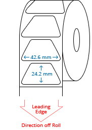 42.6 mm x 24.2 mm Roll Labels