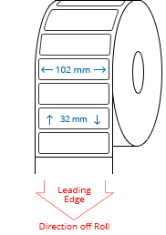 102 mm x 32 mm Roll Labels