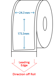 24.3 mm x 173.3 mm Roll Labels