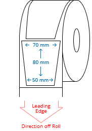 70 mm x 80 mm / 50 mm x 80 mm Roll Labels