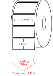 151 mm x 74 mm / 147.5 mm x 74 mm Roll Labels